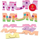 Baker Ross MUM Greeting Cards - Creative Art and Craft Supplies for Kids to Make, Personalise and Decorate (8 Pack)