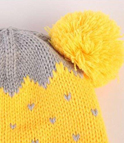 Bluestercool Bébés Garçons Filles hiver mignon écharpe + Casquettes Jaune