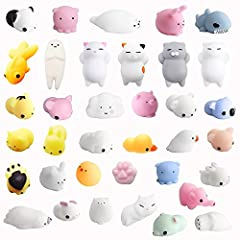 Idea Regalo - Amaza 36Pcs Squishy Kawaii Antistress Squishy Slow Rising Squishy Giocattolo Animali 3d Silicone Morbidosi Piccoli Toy