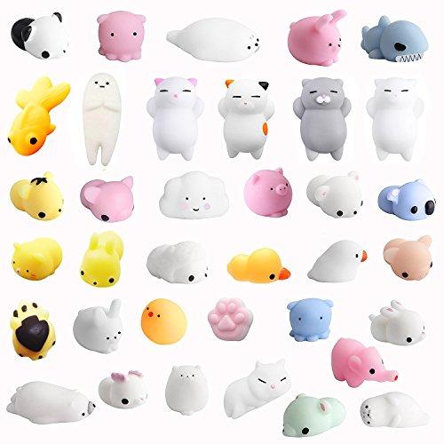 Amaza 36pcs squishy kawaii antistress squishy slow rising squishy giocattolo animali 3d silicone morbidosi piccoli toy
