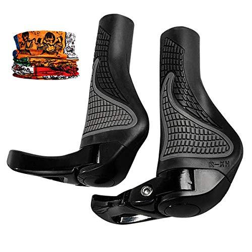 Sasairy 2 Stück Fahrradgriffe Lenkergriffe mit Maske, Griffe Fahrrad Ergonomische Rutschfeste Gummi Handgriffe Universell Verwendbar für Fahrrad/Mountainbike/ Rennrad/Faltrad Schwarz (22mm) - Fahrrad Cube