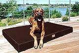 tierlando® Orthopädische Hundematratze HUGO ORTHO PLUS | XL 120 x 90 cm | Anti-Haar Polyester | Braun
