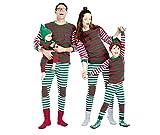 LvRao Famiglia Pigiama a righe Costume di Natale Pajamas Set Xmas Sleepwear a Strisce (a strisce #Bambini, 120cm)