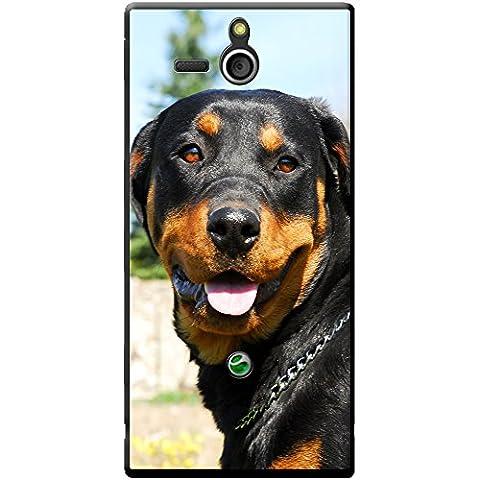 Rottweiler pour chien Étui rigide pour téléphone portable, plastique, Purebred Rottweiler Portrait, Sony Xperia U