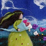 Filzbild, Frühlingsfee, wanddekoration, Textilkunst,