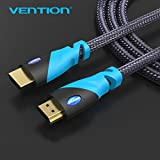 2m: Vention HDMI Cable 1m/1.5m2m/3m HDMI To HDMI Male To Male Nylon Braid Gold Plated Connection For Computer XBOX HDTV PS3 PS4