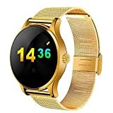 PINCHU Reloj Inteligente Bluetooth K88H MTK2502 Monitor de Ritmo Cardšªaco Sincronizacišn de Llamada Telefšnica Mensaje Hombres Wom, D