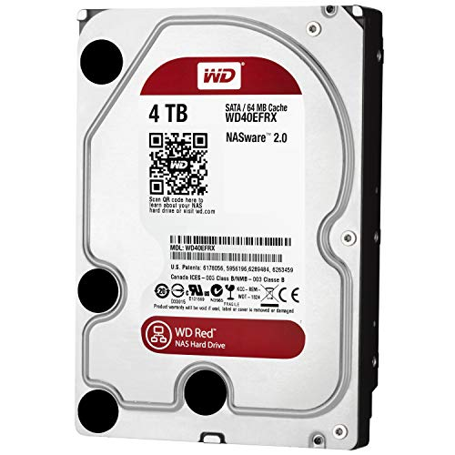 Wd Red 4tb Interne Festplatte,4000 Gb, Sata Iii, 6000 Mbits, 5400 Rpm, 64 Mb, 3.50 Inches