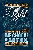1art1 88285 Inspiration - We've All Got Both Light and Dark Inside Us Selbstklebende Fototapete Poster-Tapete 180 x 120 cm