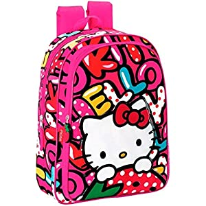 Hello Kitty Mochila con Carro de 'Sweetness' Maleta, 60 cm, 45 litros, Multicolor