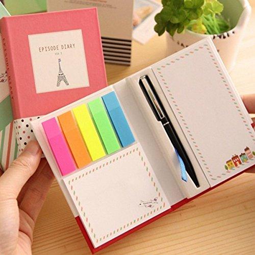 notes Notizblöcke lustig mit Stift in Farben zufällig versendet ()