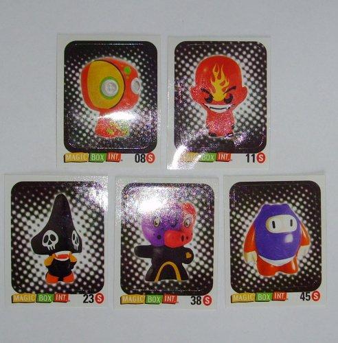 Gogo's Crazy Bones Rare-Sticker-Set (5 Aufkleber) Serie 1