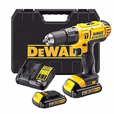 DeWalt 18V XR Lithium-Ion 2-Speed Combi Drill complete x2 lithium batteries with fast charger