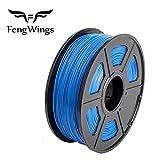 FengWings - Filamento ABS para impresora 3D, de 1,75mm, bobina de 1 kg filamento plástico, azul, 1