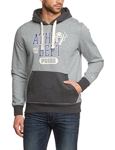 PUMA Herren Sweatshirt Fun Ath.Hooded Sweat, Fl, Medium Gray Heather, M, 830676 14 (Ath Heather)