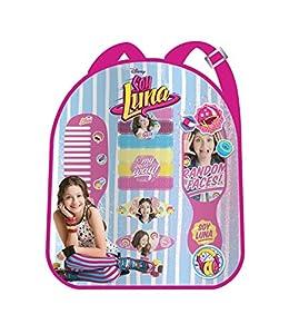 Soy Luna- Mochila con 12 Accesorios para Pelo, Color Rosa, Unica (Kids Euroswan WDSL007)