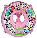 Lukis Baby Kleinkind Schwimmtrainer Aufblasbarer Schwimmring Babypool für 2-6 Jahre 67cm Pink