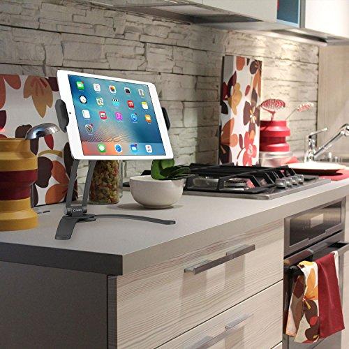 Cellet Küche Tablet Halterung Ständer Cellet 2-in-1Küche Wand-/Tresen Top Desktop Mount Rezept Halter Ständer für 7bis 33cm Tablet Passt 2017iPad Pro 12,9/9,7/Air/Mini, Surface Pro