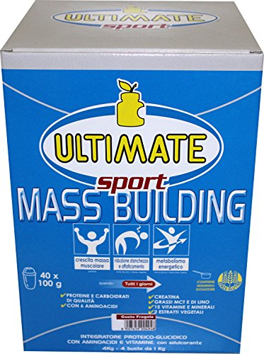Ultimate Italia Mass B4 Building Gainer, Fragola - 4000 gr