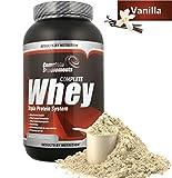 Complete Whey Integratore Sistema Tripla Proteina del Siero del Latte Alta Purezza in Polvere (Vanilla 908g)
