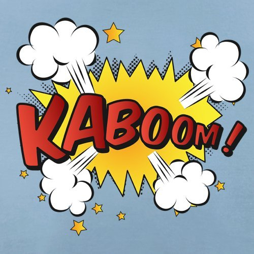 Superheld Kaboom - Herren T-Shirt - 13 Farben Himmelblau