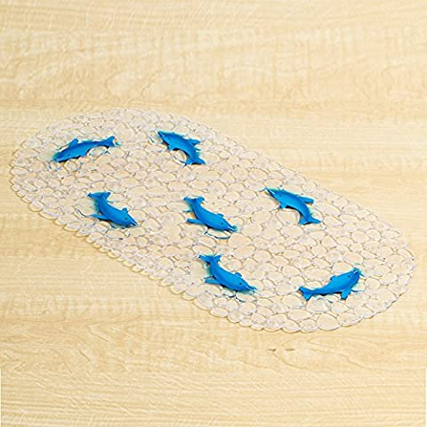 Dolphin Baby Kids Safety Tub Shower Non Slip Bath Mat, Skid Proof and Anti Bacterial Blue by Withered