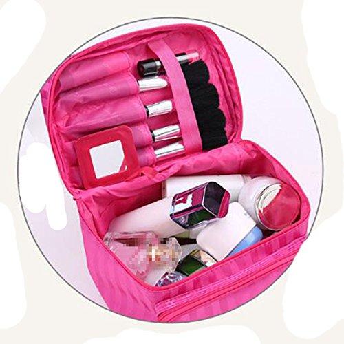 Große Größe Kosmetik Taschen Mit Qualität Reißverschluss Einzigen Schicht Reise Make-up Taschen Brown