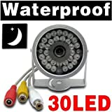 BW® 30LED 30 LED Weatheproof Night Vision Home Office Wired Colour CCTV IR Security Camera