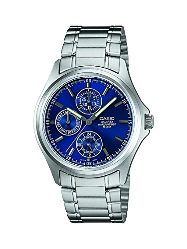 casio enticer chronograph blue dial men's watch - mtp-1246d-2avdf (a387) Casio Enticer Chronograph Blue Dial Men's Watch – MTP-1246D-2AVDF (A387) 51tmqSynD2L