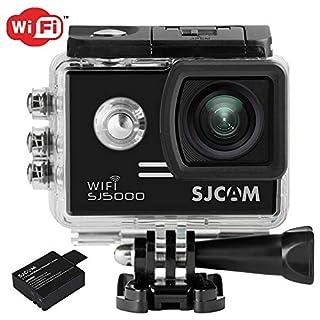 SJCam SJ5000 WiFi (versión española) - Videocámara Deportiva (LCD 2.0'', 1080p 30 FPS, Sumergible hasta 30m) Color Negro (B01AKQBRWS) | Amazon Products