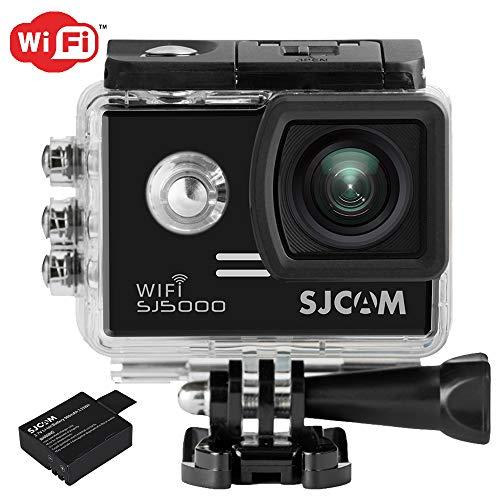 SJCam 5000 WIFI (versión española) - Videocámara deportiva (LCD 2.0'', 1080p 30 fps, sumergible hasta 30m) color negro