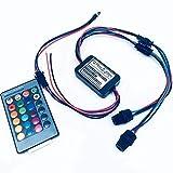 Rayauto télécommande 24touches RGB 2W DC 12V de voiture Intérieur côté lumineux Glow Fibre optique Source de lumière illuminateur Moteur de puissance d'alimentation double tête