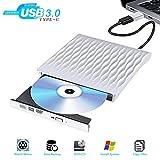 Lecteur CD Externe USB 3.0 Rapide USB C Lecteur Graveur DVD Externe Ultra Slim...