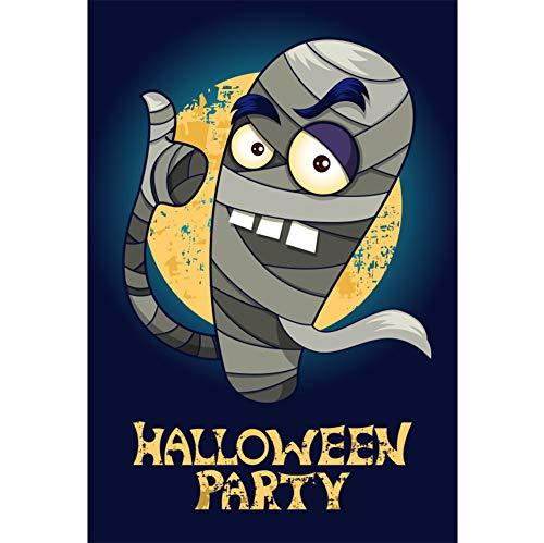Fotohintergrund Halloween Party Banner Monster Mama Moon Nachtansicht Fotoleinwand Hintergrund für Fotoshoot Fotostudio Requisiten Party Kinder Photo Booth ()