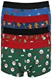 Tom Franks pour Homme Fantaisie de Noël Hipster Boxer Trunks - - S
