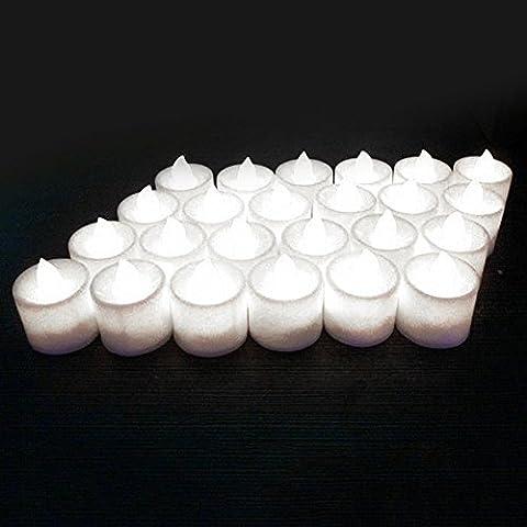 Gemini _ Mall 24PCS batteriebetrieben flackernde LED-Kerzen ohne Duft Flammenlose LED Teelichter Bright Elektrische Fake Kerze für Home Hochzeit Weihnachtsschmuck (Laterne Weihnachtsschmuck)