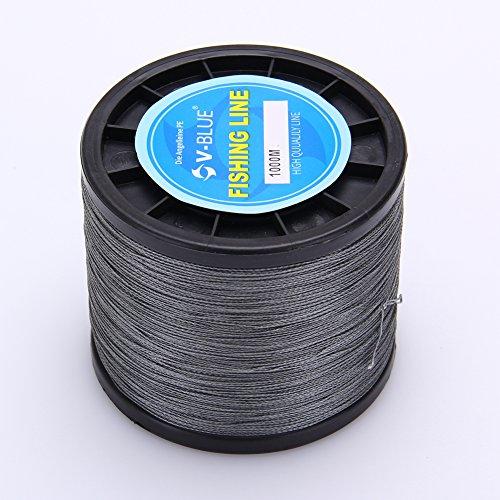 V-Blue 1000m 50LB-0.37MM 4-fach Geflochtene Angelschnur 100% PE Super Dyneema Braided Fishing Line Weiß Weitwurf Premium Qualität Spezialisiert für Salz- und Süßwasser (Premium-monofile Angelschnur)