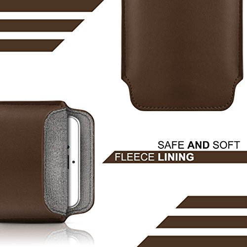 iPhone 6S Plus Hülle Braun Sleeve [OneFlow Slide Cover] Ultra-Slim Schutzhülle Dünn Handyhülle für iPhone 6 Plus / 6S + Plus Case Full Body Handytasche Kunst-Leder Tasche OXIDE-BROWN