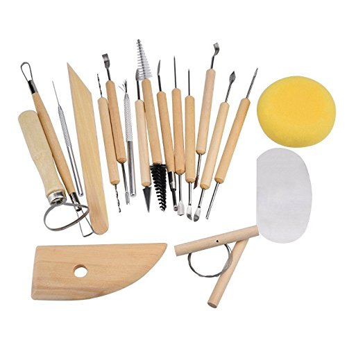 hrph-19pcs-kit-diy-outils-de-poterie-sculpture-argile-modelisation-lissage-cire-crafts-polymer-clay-