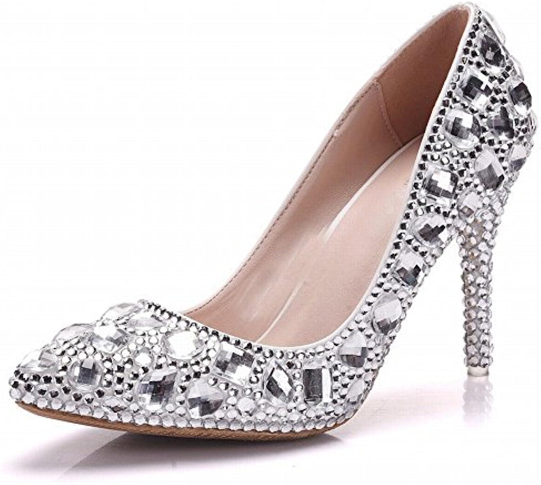 Talones de Diamantes de Imitación de Gran Tamaño de la Boda Cristalina de Los Zapatos de la Boda con Los Zapatos...
