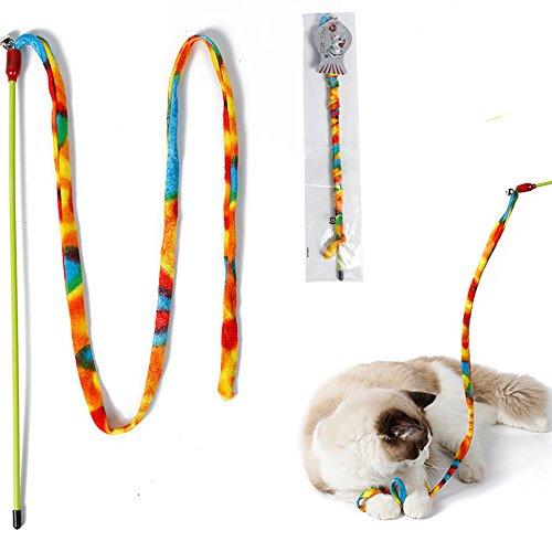 Haustier Spielzeug,1 Stück Regenbogen Streifen Haustier Lustiger Katzen Pfoten,Lustiger Katzenstock Katze Spielzeugfee,Haustier Interaktive Spiel Lustiges Kätzchen Haustier Versorgungs (Mehrfarbig)