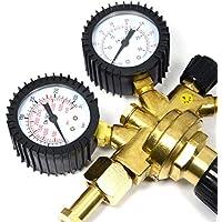lingjun Reductor de presión Regulador de presión de nuevo dispositivo sudor regulador de presión con manguera de gas para Argon CO2–Gas a Mig/Mag
