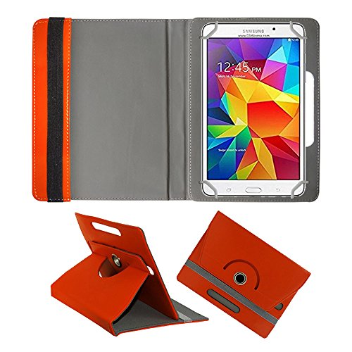 Fastway Rotating 360° Leather Flip Case For Samsung Galaxy Tab 4 T231 Tablet( 8 GB, Wi-Fi+3G) Orange  available at amazon for Rs.369