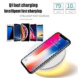 CUEYU Weiß Qi 10W Tragbar schnelles drahtloses Aufladeeinheits-schnelles Aufladungsstandplatz für iPhone XS/XS maximales/XR