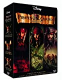 Pirates des Caraïbes - La trilogie : La malédiction du Black Pearl + Le secret du coffre maudit + Jusqu'au bout du monde - coffret collector 4 DVD