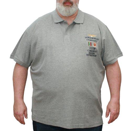 VANDAM 6623 Melange Poloshirt Große Größen 3XL-10XL Melange