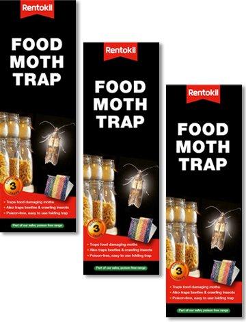 3 paquets de 3 pièges alimentaires antimites format économique (9 pièges au total)