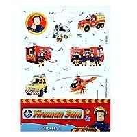 Fireman Sam Sticker Sheet with 10 Stickers Sticker & Decoration