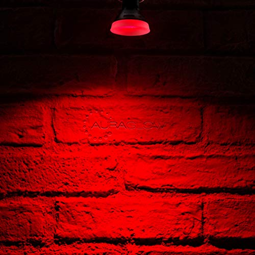 Auraglow Farbige LED GU10 Deckenfluter Spotlight-Glühlampe, ROT -