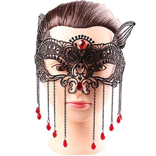 Originaltree Halloween-Party-Maskerade-Augen-Gesichtsmaske für reizvolle Damen (Spitze 4 #) (Fantastischen Vier Kostüme Für Erwachsene)